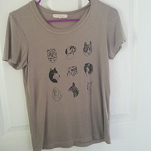 Truly Madly Deeply dog print t shirt.